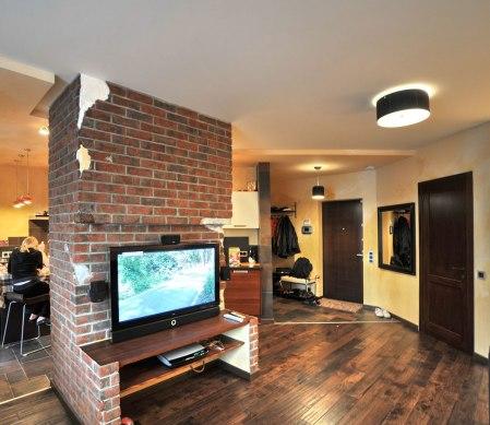 Дизайн интерьера квартиры в стиле лофт. Стойка