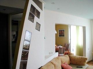 Дизайн интерьера квартиры. Гостиная с видом на столовую