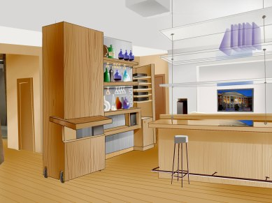 Дизайн-проект интерьера квартиры. Гостиная